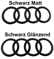 Audi A4 B5 8D Ringe Schwarz Glanz Matt Vorne Emblem Quattro Avant V6 TDI S4 RS4