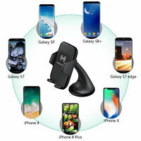 Qi Wireless Charger Car Phone Holder Mount Air Vent Cradle for iPhone Android