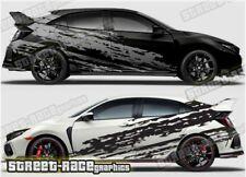 Honda Civic Rally 007 racing shredded  graphics stickers decals vinyl