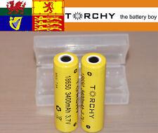2x Torchy (Panasonic Inside) 3400mAh flat top 18650 3.7v  batteries + case