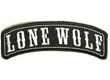 LONE WOLF Embroidered Jacket Vest Rocker Patch Funny Emblem Motorcycle Biker