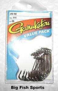 GAMAKATSU #111 Bronze 90 Degree Jig Hooks- 25 Hook Value Pack PICK YOUR SIZE!