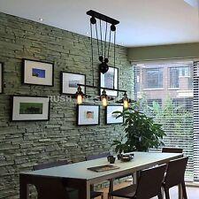 Vintage Chandelier Industrial 3- Light Pendant Ceiling Pull Up Down Lamp Kitchen