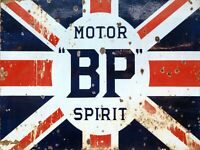 BP Motor Spirit Vintage Metal Wall sign Retro PLAQUE Garage