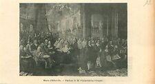 Musée d'Abbeville Tableau Pierre-Adrien Choquet GRAVURE ANTIQUE OLD PRINT 1909