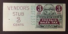 Ohio State Revenue - 3 Cents Sales Tax Entire - Columbian #DGIF-1333 - OH