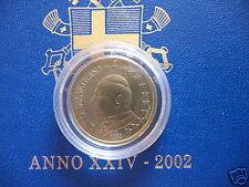 manueduc  Vaticano 2002  10  Céntimos   Juan Pablo II  De Cartera  Nuevos
