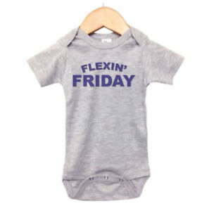 MUSCLE CHILDS BODYSUIT, Flexin' Friday, INFANT ROMPER, BABY RAGLAN, WORKOUT