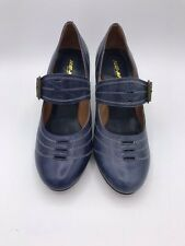 Re-Mix Classic Footwear Vintage Style Shoes - It Girl - Size 7.5-  Navy