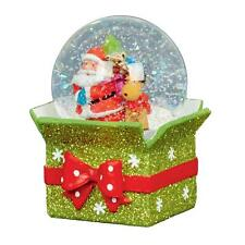 DECORAZIONI di Natale 65mm palla di neve con pacco base-Santa