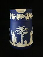 "Wedgwood Jasperware Dark Blue  Pitcher almost 4"" Tall"