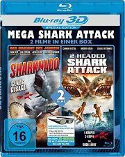 MEGA SHARK ATTACK 3D blu ray ( SHARKNADO + 2 HEADED SHARK ATTACK ( Includes 2D )