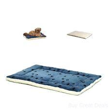 Pet Bed Deluxe Ultra Plush Cat Dog Pillow Indoor Outdoor Nap Mat Crate 24x18in