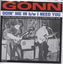 """GONN 'Doin' Me In / I Need You 7"""" NEW Back from the grave Emir Norton Keokuk, IA"""