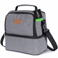 Lifewit Insulated Lunch Bag Thermal Bento Box Picnic Bag Dual Compartment 7L