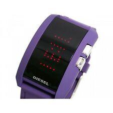 DIESEL DZ7167 Unisex PURPLE Strap LED Watch £79 RRP NEW