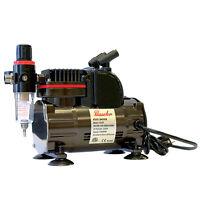 Paasche 1/5 HP Airbrush Compressor w/ Regulator, Airbrush Holders & Adapter