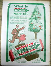 1913 Color Sunday magazine from NY Tribune with full page ad for WRIGLEY'S GUM