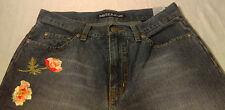 Nautica Floral Embroidered Straight Cut Jeans Womens Size 6