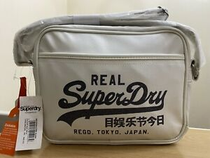 Superdry New Sparkle Mini Alumni Bag - Optic White BNWT