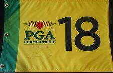 Jason Day Signed 2016 PGA Championship Flag w/COA Baltusrol #1