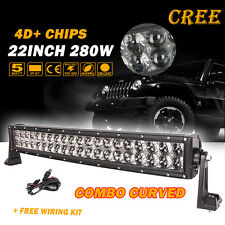 "22INCH 280W Curved CREE LED Light Bar Combo Beam Offroad 4WD TRUCK SUV 20"" 300W"