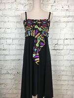 Womens SUNFLAIR Multicoloured Strap Sleeveless Asymmetrical Hem Dress Size 14