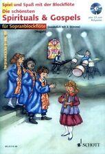 Die schönsten Spirituals und Gospels für 1-2 Sopran-Blockflöte(n) Noten mit CD