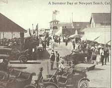 "NEWPORT BEACH ""A Summer Day"" Ocean Ave VINTAGE CARS Photo Print 1472 11"" x 14"""