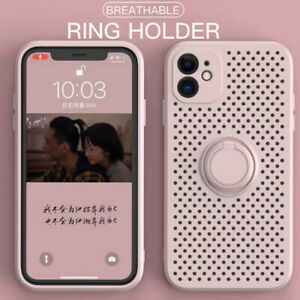 Heat Dissipation Phone Case For iPhone 11 12 Pro Max XS XR 7 8 Ring Holder Cover