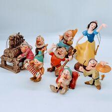 WDCC Disney - Snow White and the Seven Dwarfs Ornament Set. MIB