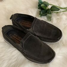 Sketchers Relaxed Fit Loafers Men Green Size 8 Memory Foam Slip On Leather