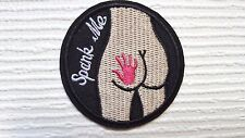 Funny Logo Spank Me Embroidered Iron on / Sew on patch / Applique / Badge