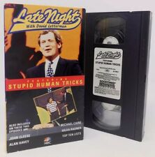LATE NIGHT DAVID LETTERMAN VOL 5 VHS TAPE  — GILDA RADNER & STUPID HUMAN TRICKS
