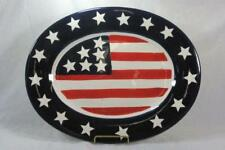 """Todays Living Stars And Stripes Oval Platter 18"""""""