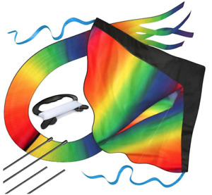 aGreatLife Huge Rainbow Kite for Kids with Safety Certificate Kite Easy To Fly |