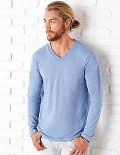 Triblend Long Sleeve V-Neck Mens T-Shirt | Canvas