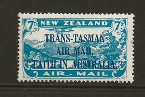 NEW ZEALAND 1934 SG554 Trans Tasman Air 7d Light Blue Fine MINT Cat £35