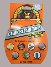 GORILLA 8.2m x 48mm CRYSTAL CLEAR GLOSS Tough Strong Repair Duct Tape RDG