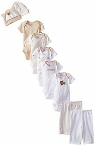 Gerber Unisex-Baby Bear 9 Piece Onesies, Pants and Caps Playwear Bundle Gift Set