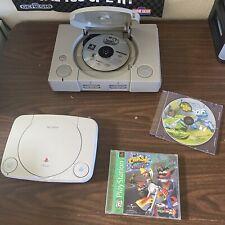 Psone Playstation 1 Scph-1001 Crash Bandicoot Lot [For Parts]