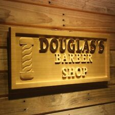 wpa0175 Name Personalized BARBER SHOP Pole Hair Cut Wood Engraved Wooden Sign
