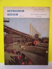 1958 BETHLEHEM STEEL-BETHLEHEM REVIEW-EMPLOYEE MAGAZINE-ANNUAL REPORT