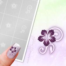 Schablonen für Airbrush und Nailart FS013 Ornament Floral Blüte Blätter 40x kleb