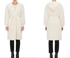 Gorgeous! NEW! Helmut Lang Reversible Faux Fur Belted Jacket Coat sz Med $1,495!