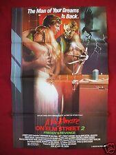 A NIGHTMARE ON ELM STREET 2 * 1985 ORIGINAL MOVIE POSTER FREDDY HALLOWEEN NM-M