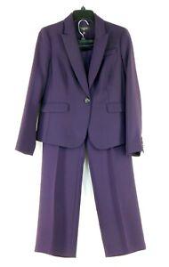 NWOT Talbot's Women's Pant Suit Eggplant Dark Purple Size 8P Petite NEW