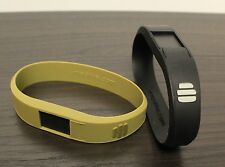 New (ume) Drive Waterproof USB Silicone Bracelet: 2-Pack All Black + Army Gold