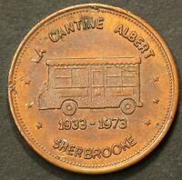 1933 1973 Canteen Token Fred Burger Sherbrooke Quebec Truck #1852