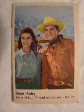 Maple Leaf Gum Card Series M.L. No. 14  Gene Autry